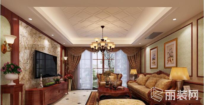 一号家居装饰-中式风格130平米三居室装修案例图