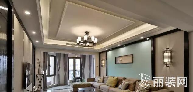 一号家居-116平米新中式风格三居室装修案例图