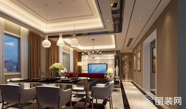 一号家居-85平米三居室现代简约风格装修案例图