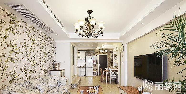 欧式田园风格89平米两室两厅装修效果图 A加装饰