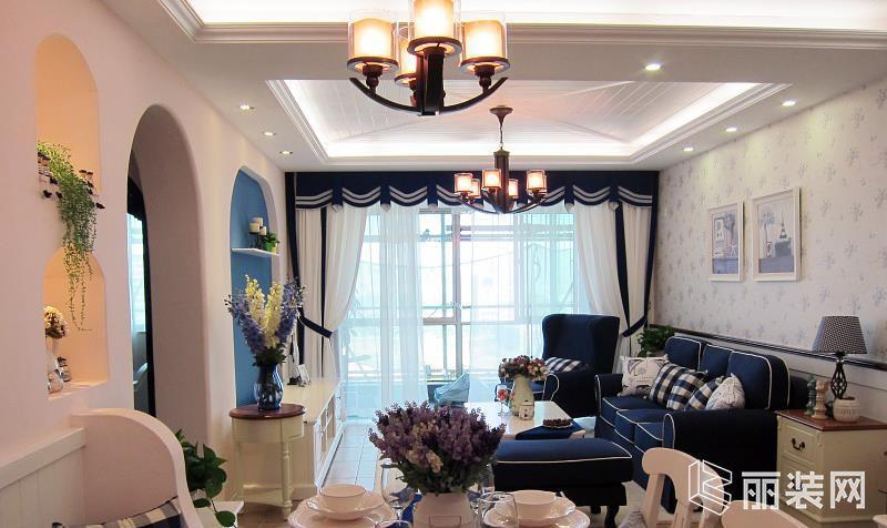 82平米地中海风格两室两厅装修案例图 A加装饰