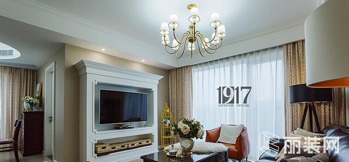 杭州135方三室两厅两卫美式风格装修设计效果图