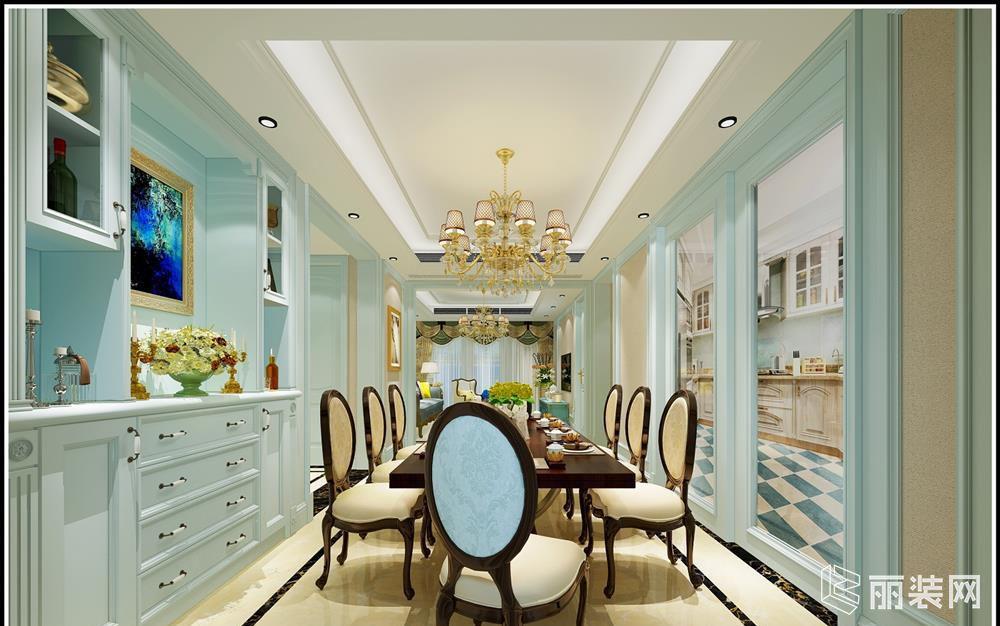 88平米11万二居室欧式风格装修效果图