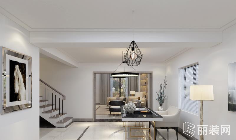 上海300平米现代风格别墅装修案例图片