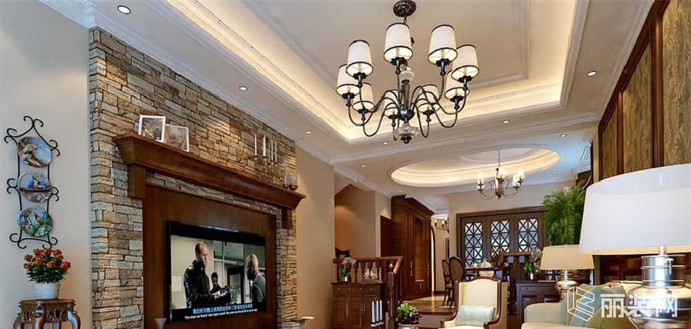 上海200平米欧式风格别墅装修案例效果图片
