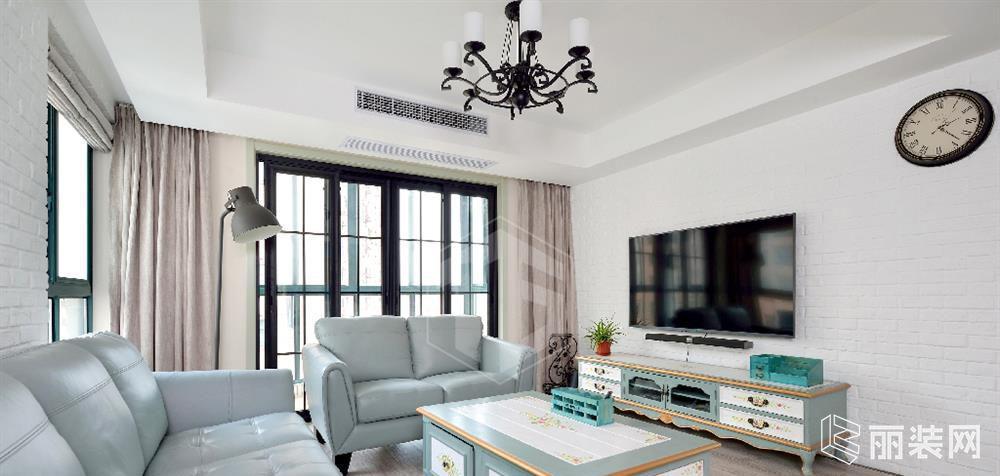 上海120平米混搭风格三居室装修案例效果图片