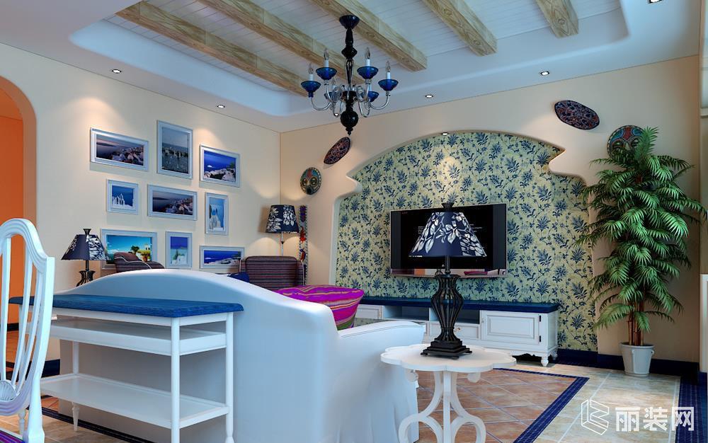 地中海风格三居室案例