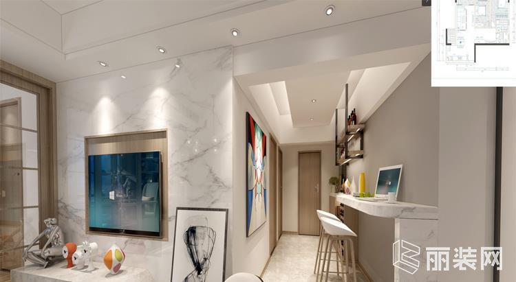 珠海蓝迪装饰-三居145平米现代案例效果图