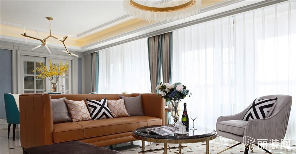 威海智慧空间装饰-四居171平米现代轻奢案例效果图
